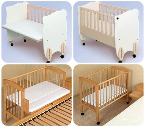 attaccata al letto co sleeping bonding e bedside cots o culle da affiancare