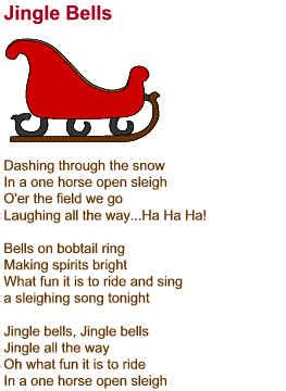 printable version of jingle bells jingle bells