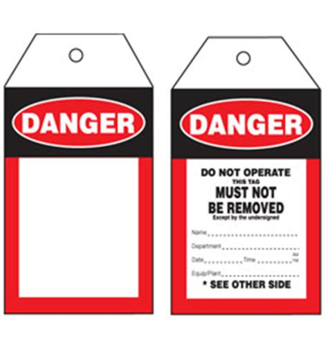 printable danger tags aaa print group printing promotional safety tags