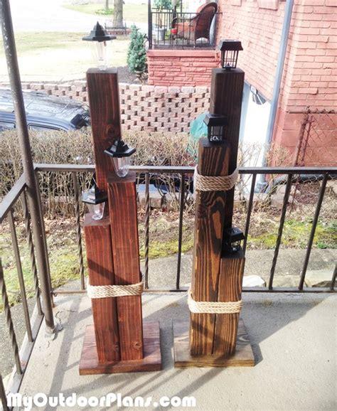 diy wood nautical lamp post myoutdoorplans