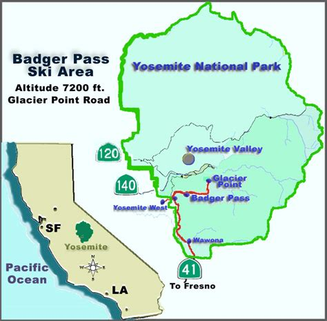 california map near yosemite california map near yosemite