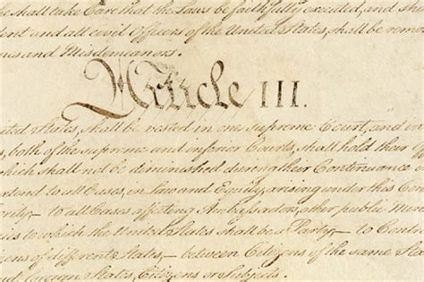 article iii section 1 of the constitution independent judiciary thinglink