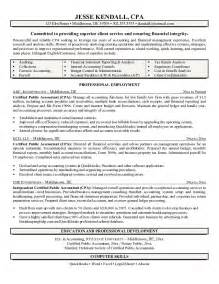 exle certified accountant resume free sle