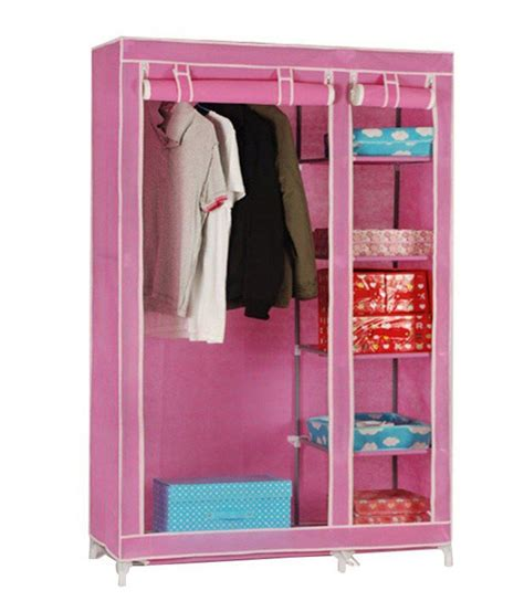 Buy Portable Closet by Pindia Fancy Portable Foldable Pink Closet Wardrobe