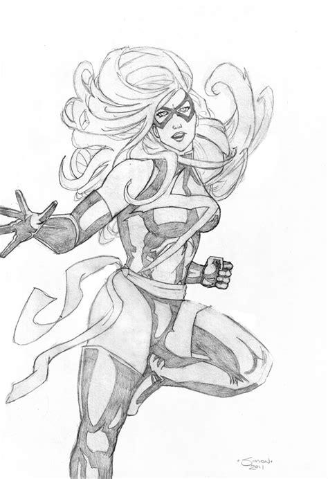 sketchbook marvel ms marvel sketch by stingroll on deviantart