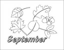 september color printable calendar picture months coloring pages