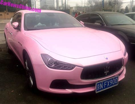 maserati pink china car culture archives carnewschina com