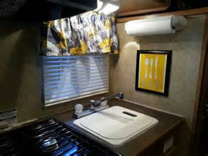 travel trailer decor yellow and gray cing rv