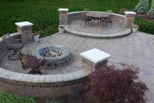 backyard firepit types of brick patio designs to make your garden more