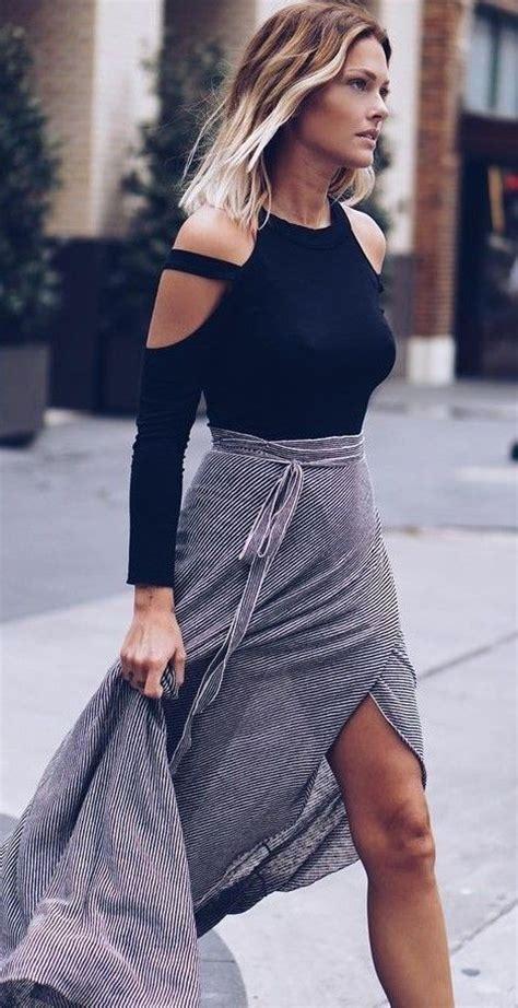 Carolline Longsleeve Maxi Denim Diskon chic fashion you to follow right now caroline receveur maxi skirts