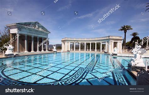 roman pool roman backyard and swimming pools large roman outdoor swimming pool stock photo 27888460
