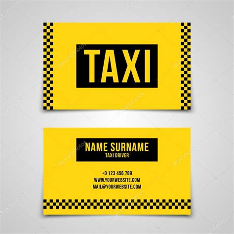 taxi name card template taxi business card templates image collections