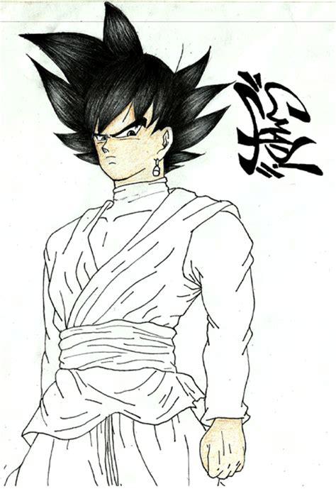 imagenes de goku oscuro dibujando a goku black anime amino