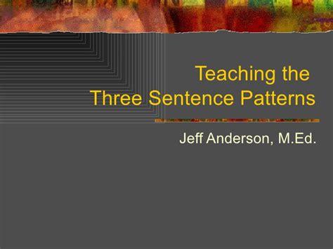 sentence pattern slideshare sentence patterns