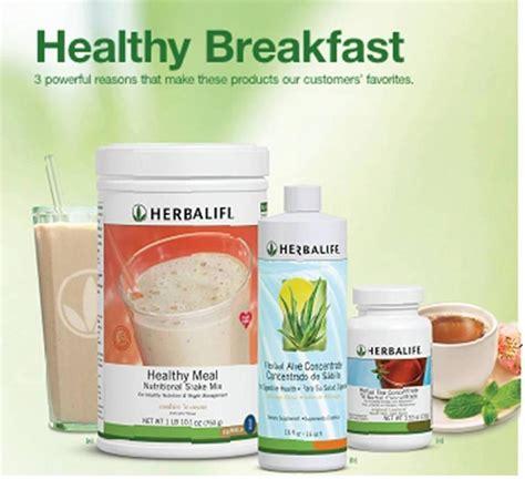 Dan Teh Herbalife sehat dan langsing dengan sarapan sehat