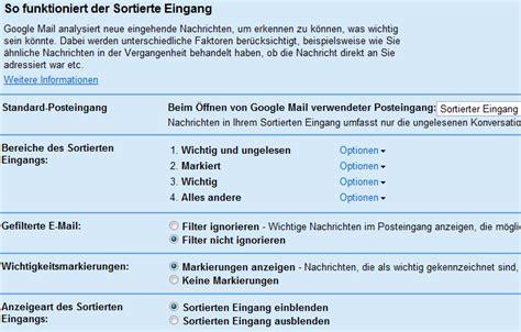 e mail eingang gmail sortierter eingang gt tipps