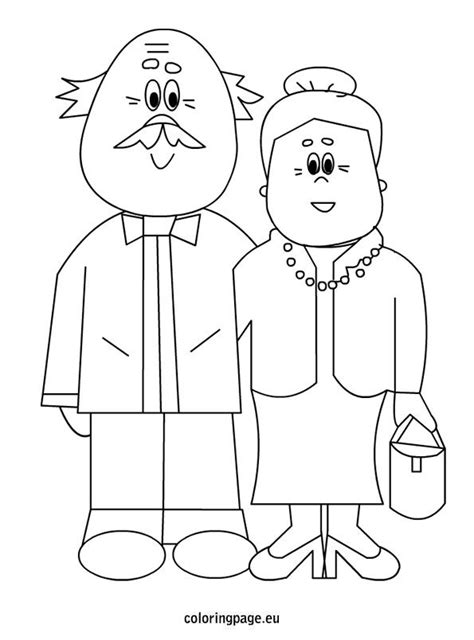 coloring page for grandparents day grandparents coloring page thema grootouders pinterest