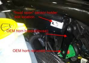 2door jk horn replacement with piaa 400 500hz horns