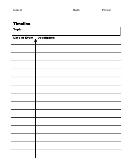 vertical timeline template 5 vertical timeline templates free premium templates