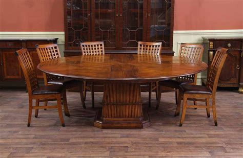 tropical dining room furniture tropical round table solid walnut expandable round dining