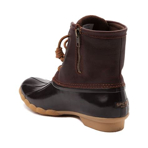 womans boot womens sperry top sider saltwater boot brown 583630