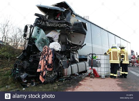truck crash deadly truck crash in germany stock photo 52645262 alamy