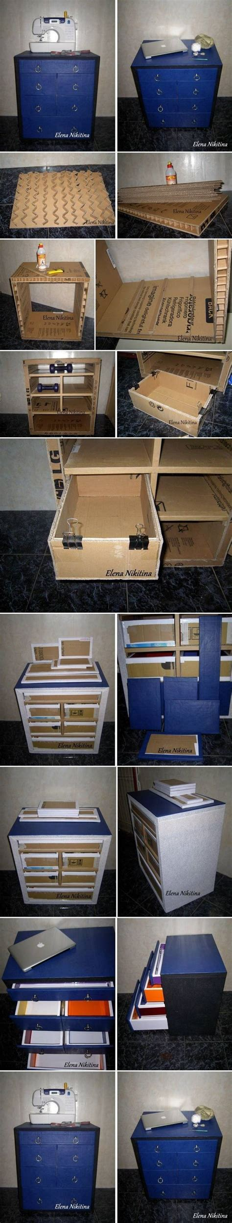 diy chest drawers with cardboard diy make it