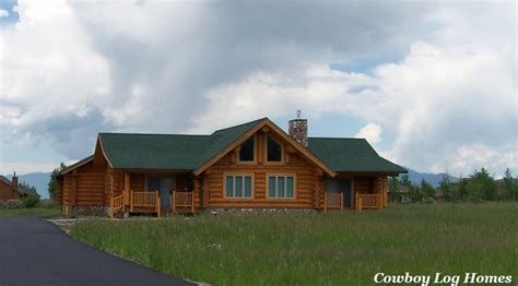 Handcraft Homes - lone mountain plan 1 616 sq ft cowboy log homes