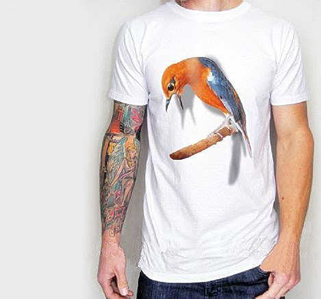 T Shirt Kaos 3d Kenari Gacor Lengan Panajng Kuning Merah kaos burung berkicau kaos 3d gambar burung kaos kicau