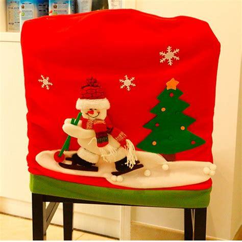 santa hat chair covers australia new year chair back cover santa claus snowman