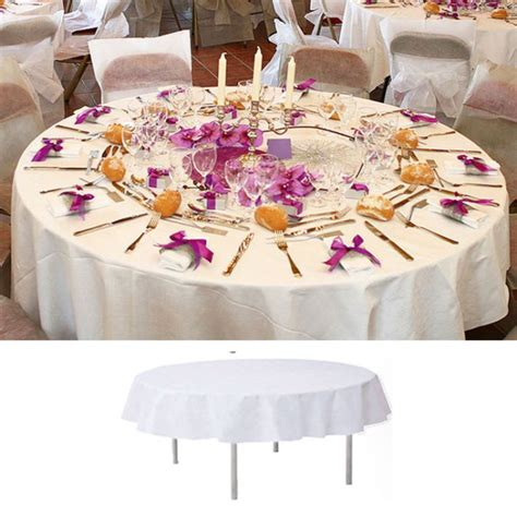 Decoration Table Ronde Mariage by Nappe De Table Ronde Blanche 240cm