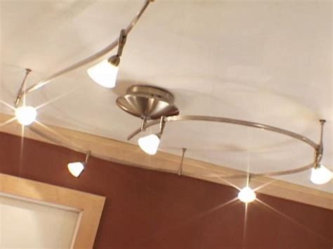 ceiling track lights for kitchen install track lights for instant flair hgtv