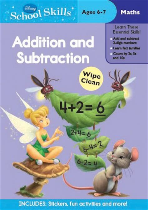 Disney Learning Story Addition Substraction disney school skills disney fairies addition and subtraction scholastic club