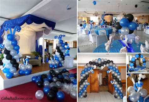 colour themes for 18th birthday debut 18th birthday cebu balloons and party supplies