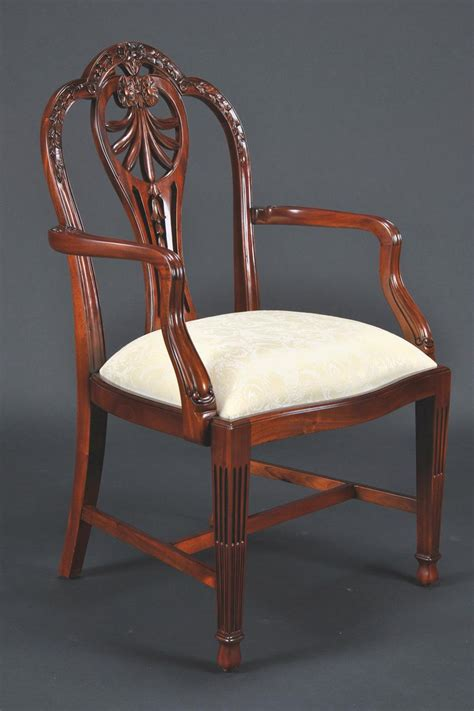 Carved Harrisburg Shieldback Shield Back Dining Chairs