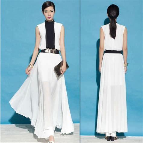 Robe Blanche Ceremonie Femme - robe femme noir et blanche 201 l 233 gante robe de soir 233 e