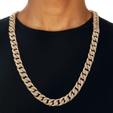 Cuban Home Decor electroplated miami cuban link chain gold necklace