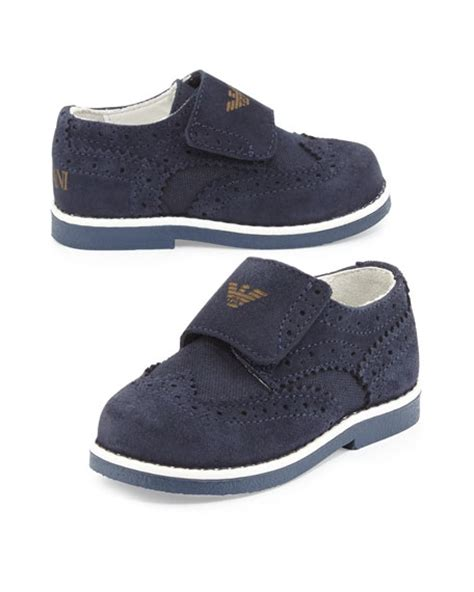 toddler navy dress shoes armani junior suede brogue dress shoe navy toddler sizes