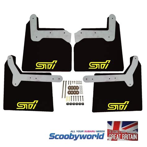 subaru wrx decal scoobyworld black scoobyworld mudflaps sti style yellow