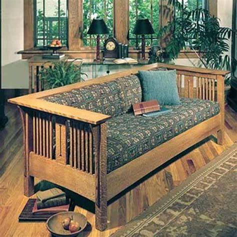 arts and crafts sofa downloadable woodworking project plan to build arts and