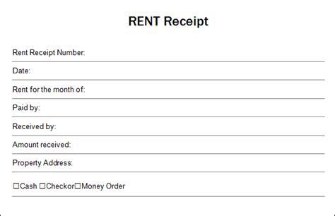 rent receipt template pounds best photos of blank receipt template word free blank