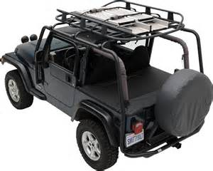 Wrangler Top Roof Rack by 1997 2006 Jeep Wrangler Src Roof Rack Black Textured