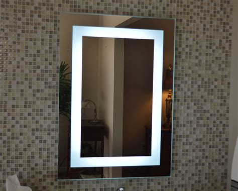 Wall Bathroom Mirror Lighted Bathroom Vanity Make Up Mirror Led Lighted Wall Mounted Mam82028 20x28 Ebay