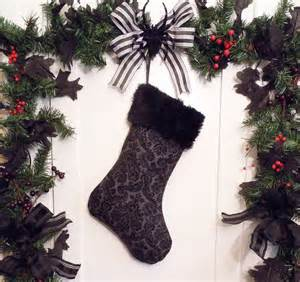 Gothic christmas tree decorations a gothic christmas stocking