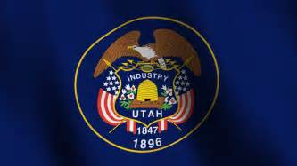 utah state colors seamless loop of the utah state flag with highly detailed