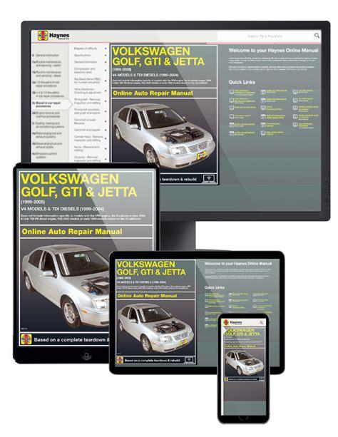 online car repair manuals free 1999 volkswagen golf electronic throttle control vw golf jetta online service manual 1999 2005