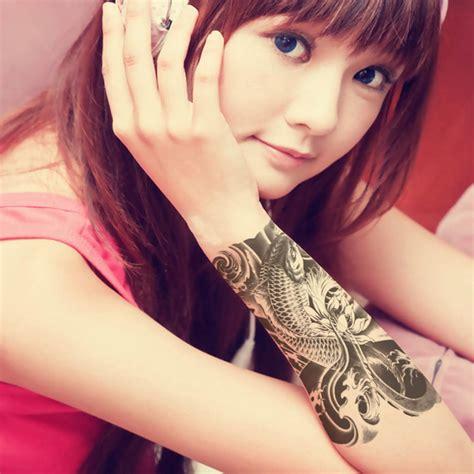 temporary tattoo app 5pcs oriental carp beauty body art 3d waterproof temporary