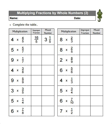 Multiplying Fractions Worksheets by Multiplying Fractions Free Worksheets 11 Multiplying
