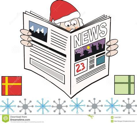 newspaper theme vector christmas newspaper cartoon stock vector image 14407097