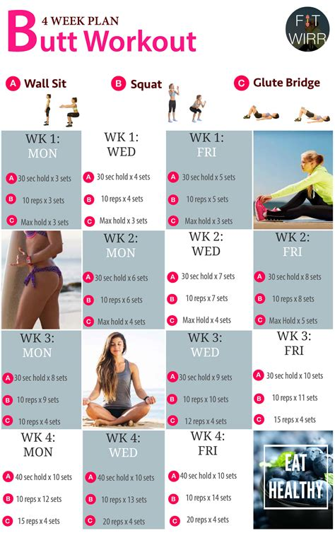 4 week workout plan for